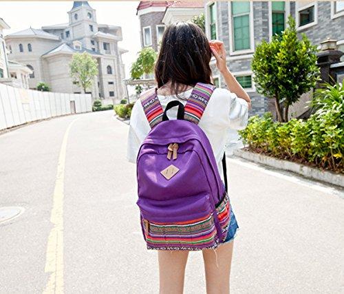 Yimidear zaino borsa in tala donna ragazza per scuola viaggio sport palestra ecc Viola