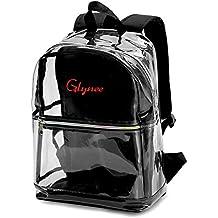 Glynee Sacchetto trasparente della scuola dello zaino del PVC delle ragazze trasparenti con il Daypack di viaggio della spalla regolabile