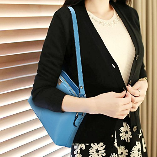LaoZan Borsa A Tracolla Messenger Bag Delle Donne Squisito Fascino Pink Cielo Blu