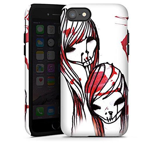 Apple iPhone X Silikon Hülle Case Schutzhülle DeadHoxtonGirls Gloria blutig Tough Case glänzend