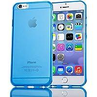 iPhone 6 6S Hülle Handyhülle von NICA, Ultra-Slim Silikon Case Crystal Schutzhülle Dünn Durchsichtig, Handy-Tasche Back-Cover Transparent Bumper für Apple iPhone 6S 6 - Blau Transparent