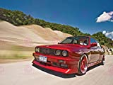 PHOTOGRAPHY BMW M3 SERIES 3 E30 CAR AUTOMOBILE RED MOTION 18X24'' PLAKAT POSTER ART PRINT LV10661