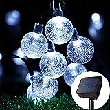 Guirlande lumineuse solaire, 60 m 30 LED, boule de cristal étanche, éclairage d'ambiance pour jardin, terrasse, mariage, fête, maison, paysage, arbres