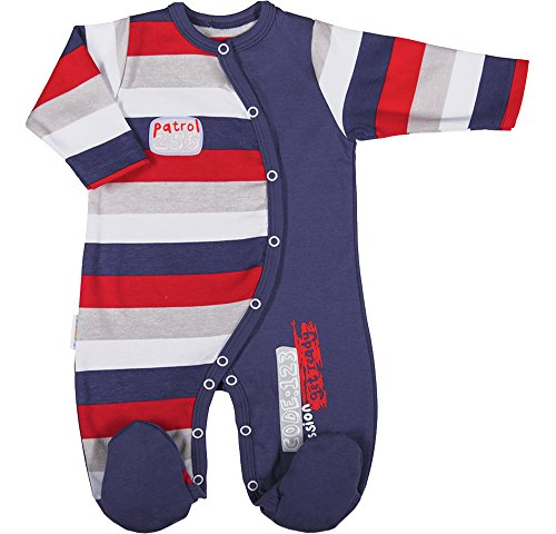 Be mammy pagliaccetto per bambino bebè beek0023(jeans/strisce, 80)