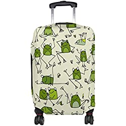 ALAZA Divertida rana de dibujos animados equipaje La tapa del Doodle adapta a 22-24 pulgadas maleta de viaje Spandex protector
