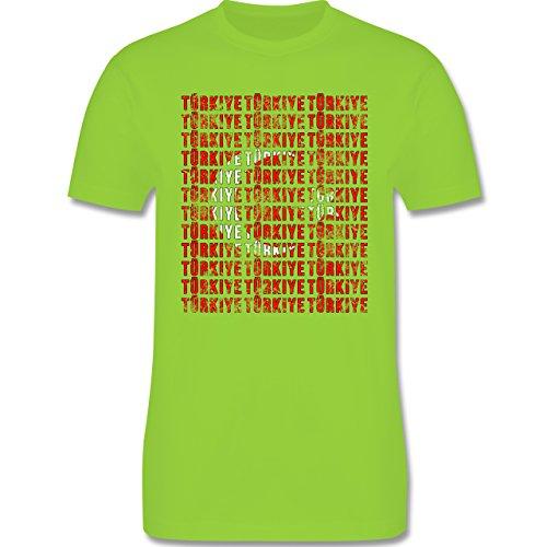 EM 2016 - Frankreich - Türkiye Vintage Typo - Herren Premium T-Shirt Hellgrün