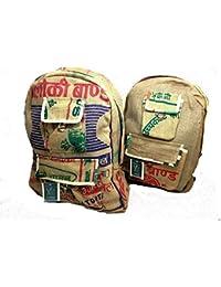 Hombres comercio justo Hippy arroz saco de lona Mochila Mochila N29
