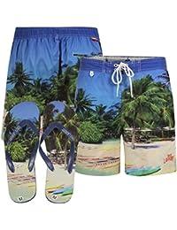 Tokyo Laundry Tamarama Mens Swim Shorts and Free Flip Flops