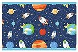 dekodino Kinderzimmer Bordüre Borte Weltraum Raketen Planeten Wanddeko selbstklebend