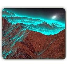 Yanteng Alfombrilla de ratón, montañas Hermosas Cielo borroso, Game Office Mousepad