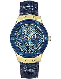 Guess para mujer-reloj cronógrafo de cuarzo cuero W0289L3