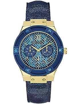 Guess Damen-Armbanduhr Chronograph Quarz Leder W0289L3