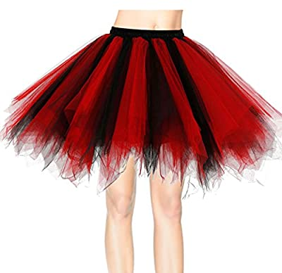 Dresstells Women's Short Party Tutu Vintage Petticoat Ballet Bubble Skirt