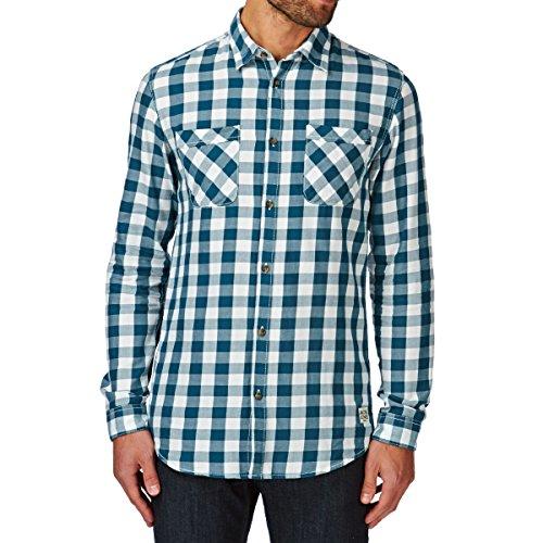 Jack & Jones Colt Shirt Two Pocket uomo, camicia, azzurro Petrolio