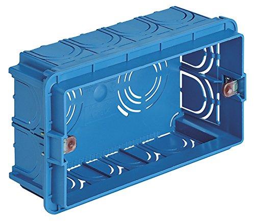 Vimar - Caja empotrable rectangular 4 módulo azul