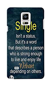 CimaCase Single Status Designer 3D Printed Case Cover For Samsung Galaxy Note 4