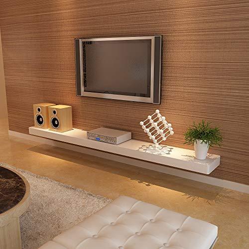 ZHIRONG Schwimmende Regale Wandregal Holz Dekorative Hängende Display Rack Home Storage Organizer Wand TV Schrank (Farbe : Weiß, größe : 120 * 24 * 5CM) -