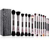 MSQ Make Up Bürstenset 14pcs Pro Rose Gold Machen Bürsten Neue Doppel Ende Kosmetik Tools Mit Make Up Am Besten