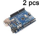 Gaoxing Tech. UNO R3 MEGA328P ATMEGA16U2 Microcontrolador de placa de desarrollo para cable USB Arduino
