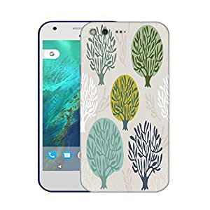 Snoogg Abstract Trees Designer Protective Phone Back Case Cover For Google Pixel