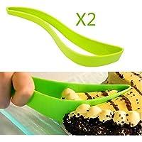 Saflyse Mattarello 27x 5,5cm Sugar Craft fondente Rolling Pin Cake Deco rating Tool Tortiera per (viola) verde