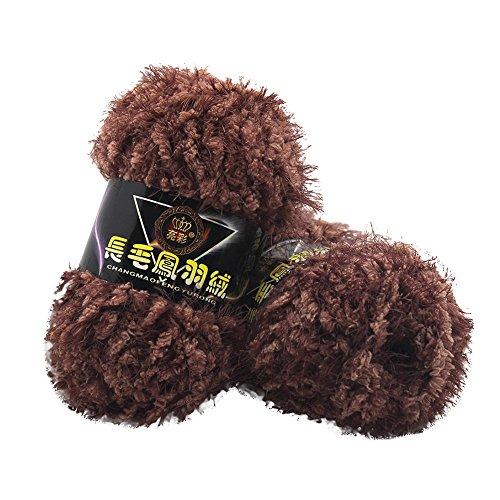sunnymi 50g 3mm DIY Wolle Super Soft Baby Bambus Cotton Wool Häkeln Hand Stricken Kaschmir Garn Milch Baumwolle Geschenk Garn Strick Wolle Pullover Hüte Schals Decke (I, 3mm) - 3 Größe Baumwollgarn
