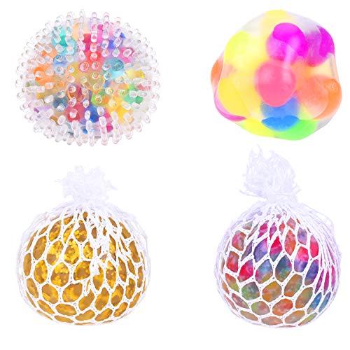 Mini Antistressball Gummi Vent Bälle Stressabbau Anti-Stress Squishy Spielzeug Ball für Studenten Erwachsene 6x6x6 cm Bunt ()