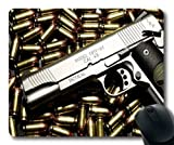 Mausunterlage, Gewehr fightr, Gewehrbilder, Mausunterlage mit genähten Kanten