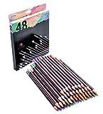 Buntstifte Set – 48 Professionelle Buntstifte auf Ölbasis für Künstler inkl. Hautfarben Buntstifte für Malbuch, Zeichnen und Skizzieren