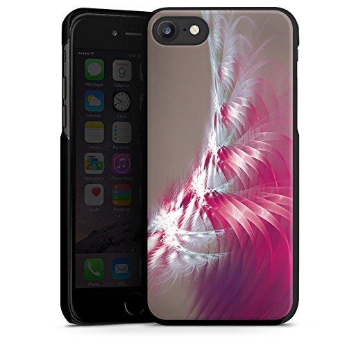 Apple iPhone X Silikon Hülle Case Schutzhülle Muster Licht Spirale Hard Case schwarz