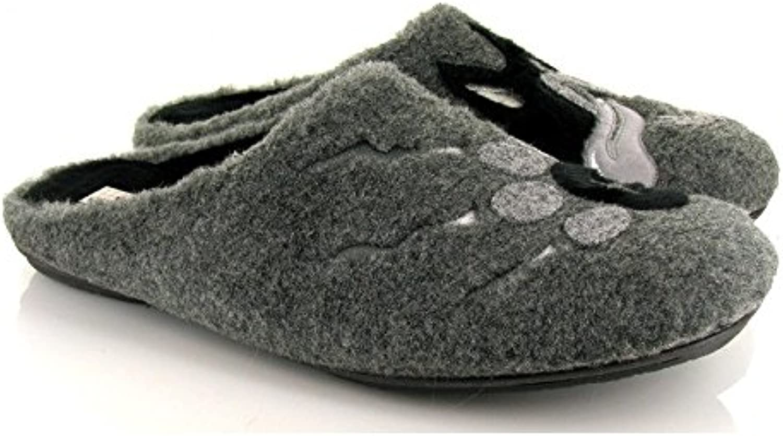 Vul-ladi, 4629.248, Chinela paño gris de Hombre