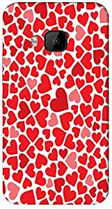 Timpax protective Armor Hard Bumper Back Case Cover. Multicolor printed on 3 Dimensional case with latest & finest graphic design art. Compatible with HTC M9 Design No : TDZ-28057