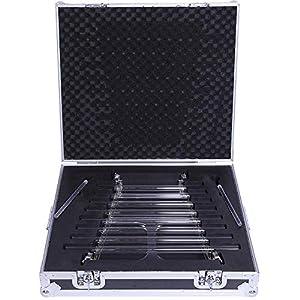 ENERGYSOUND 432 HZ Klangtherapie Quarzkristall Singende Harp mit 8 Noten und Alumina-Legierung Box