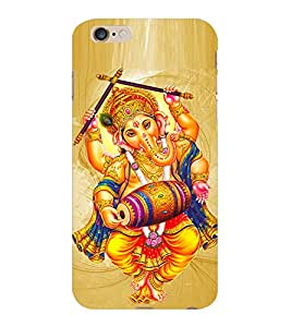 ColourCraft Lord Ganesha Design Back Case Cover for APPLE IPHONE 6 PLUS