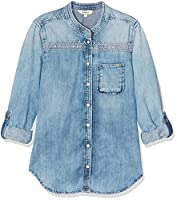 Pepe Jeans Girl's Selby Jr Blouse, Blue (Denim), 8 Years