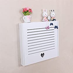 Yazi DIY Elektrische Meter Box Love Herz Clamshell Creative Wand Rack für Home Decor Lamellen 43 x 31 x 6 cm