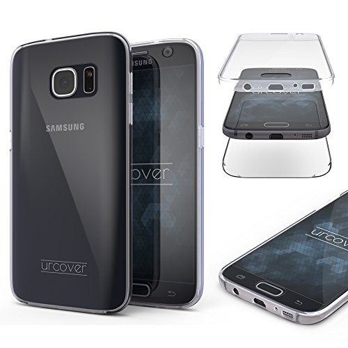 Urcover Touch Case 2.0 kompatibel mit Samsung Galaxy S7 360 Grad Rundum-Schutz Full Cover [Unbreakable Case bekannt aus Galileo] Clear Full Body Case Handy-Hülle Transparent