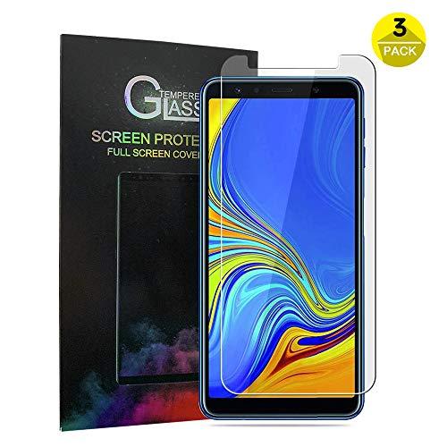 Zapig Panzerglas für Samsung Galaxy A7 2018, Premium Schutzfolie HD Anti-Kratzer Glasfolie 9H Bildschirmschutzfolie für Samsung A7 2018 Folie aus Glas
