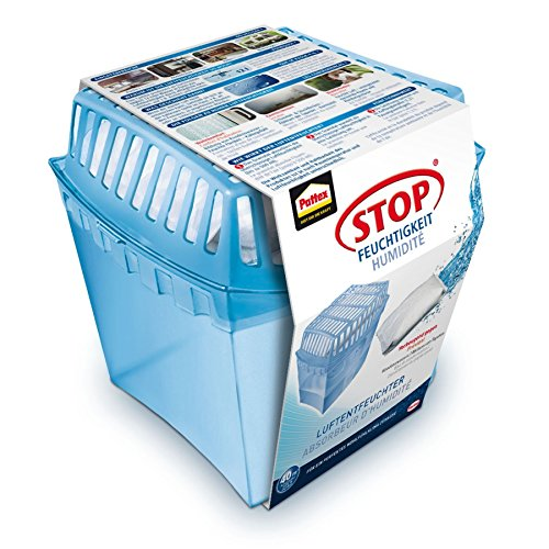 Pattex PULGS Stop Feuchtigkeit Universal Gerät/Räume bis 40 m³/Raumentfeuchter wiederverwendbar gegen Schimmel und unangenehme Gerüche/inkl. 1 x 450 g Granulat Kissen
