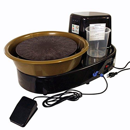 USA Kunst liefert Tisch Top Keramik Rad mit LCD-Rad Speed Display-inkl. Fuß Pedal und 27,9cm Fledermaus-wendbar Spin Richtung-Keramik Ton Topf, Schüssel, Tasse, Kunst Pottery Wheel Base Unit -