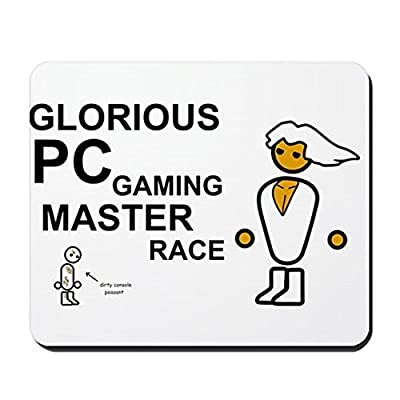 CafePress - Glorious PC Gaming Master Race - Non-slip Rubber Mousepad, Gaming Mouse Pad