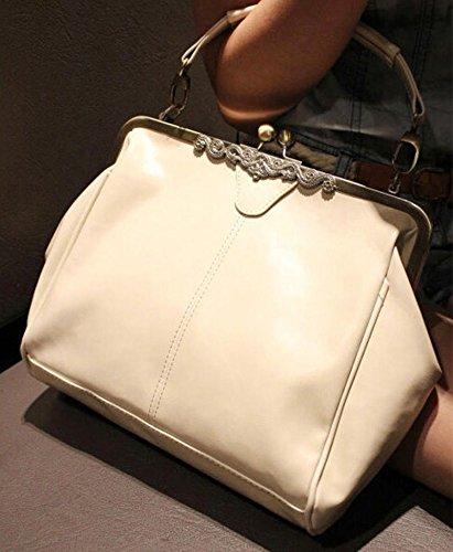 DELEY Donna Moda Vintage Spagna Stile Tote Borsetta Borsa A Tracolla Messaggero Bag Bianco