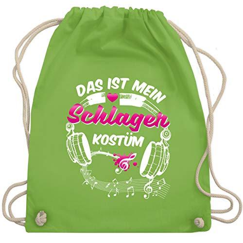 Karneval & Fasching - Das ist mein Schlager Kostüm - Unisize - Hellgrün - WM110 - Turnbeutel & Gym Bag