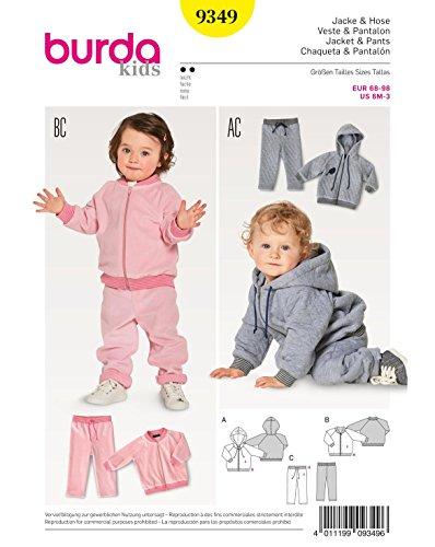 Burda Schnittmuster Kids 9349Jacke und Hose, Papier, weiß, 19x 14x 0,5cm (Kleinkind Couture Kleider)