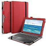 IVSO Lenovo Miix 320 hülle, hochwertiges PU Leder Etui hülle Tasche Case - mit Standfunktion, super 360° Anti-Wrestling, ist für Lenovo Miix 320 Tablet-PC ideal geeignet (Für Lenovo Miix 320, Rot)