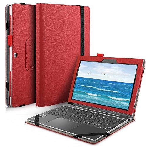 IVSO Lenovo Miix 320 hülle, hochwertiges PU Leder Etui hülle Tasche Case - mit Standfunktion, super 360° Anti-Wrestling, ist für Lenovo Miix 320 Tablet-PC perfekt geeignet (Für Lenovo Miix 320, Rot)