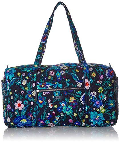 Vera Bradley Damen Iconic Large Travel Duffel, Signature Cotton kultige, große Reistasche, charakteristisch, Baumwolle, Moonlight Garde, Einheitsgröße