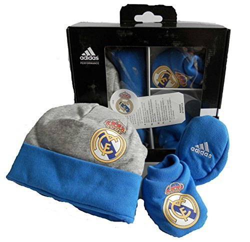 Adidas Real Madrid Gift-Set Baby Beanie Baby Schuhe Neu Gr. OSFB