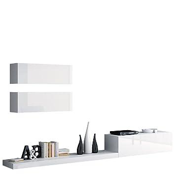 Wohnwand Pixel VII, Modernes Wohnzimmer, Anbauwand, Fernsehschrank ...