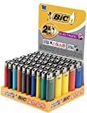 BIC Feuerzeug Electronic J38, neutral, Bicolours, sortiert, 50er Packung, 1er Pack (1 x 50 Stück)